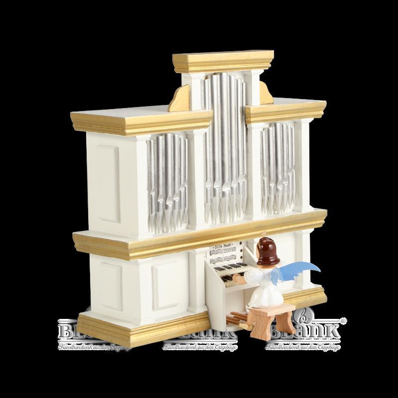 Kurzrockengel an der Orgel mit Spielwerk, farbig