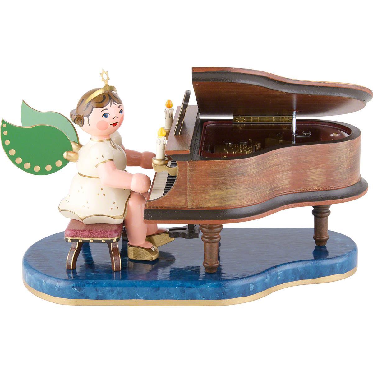 Engel am Klavier mit Spielwerk