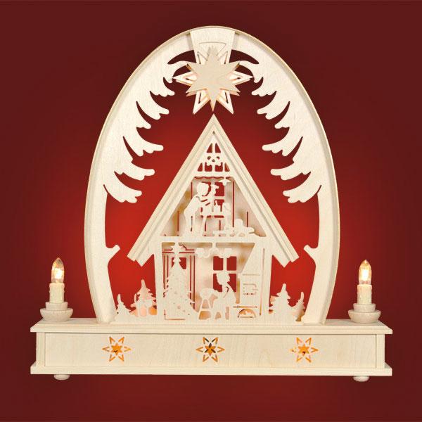 Weihnachtshaus, groß - Seidelbogen