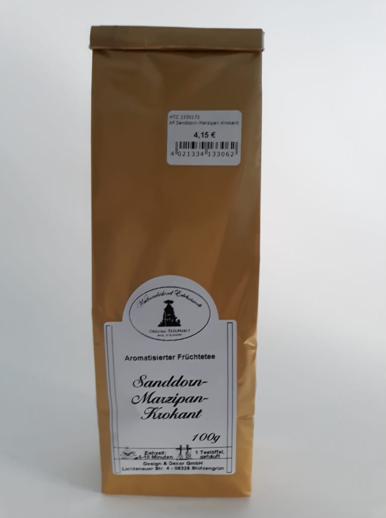 Aromatisierter Früchtetee - Sanddorn-Marzipan-Krokant, 100g