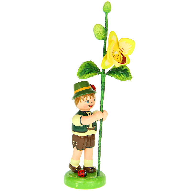 Junge mit Orchidee
