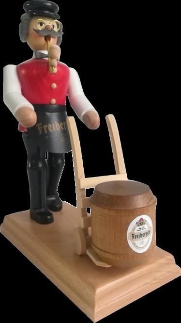 Räuchermann - Gastwirt mit Fass, Freiberger