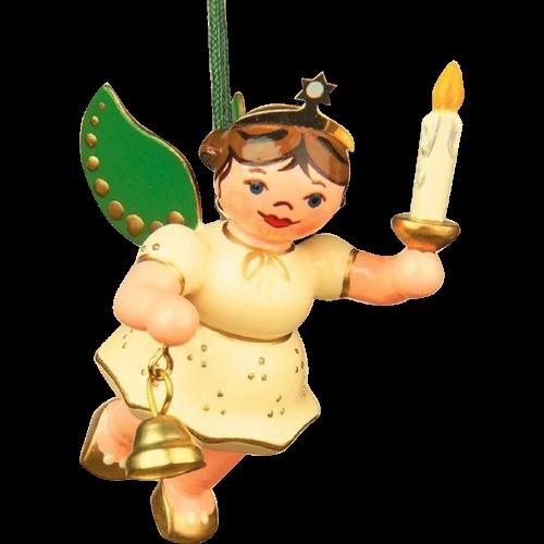 Baumbehang - Engel mit Licht und Glocke
